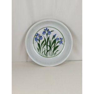 Vtg Sheepscot River Pottery Iris Shallow Bowl